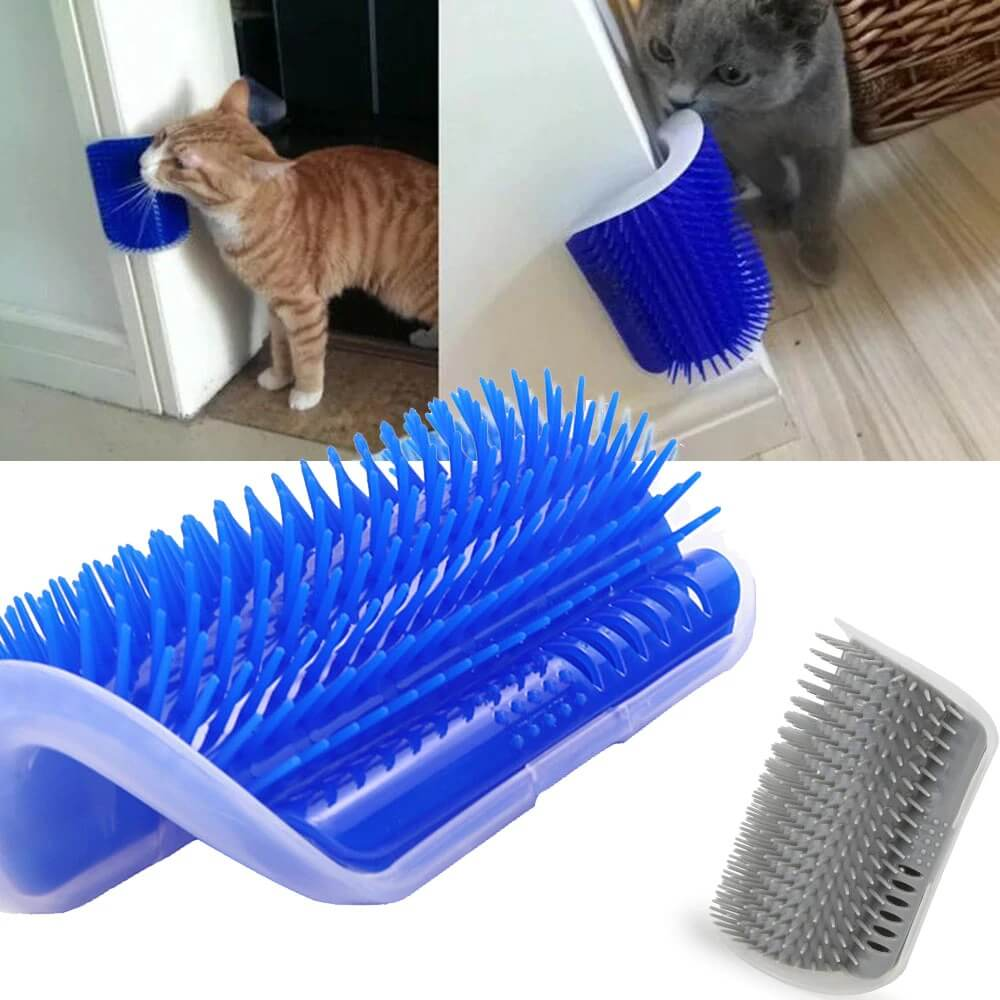 Self Groomer Cat Brush Toy with Catnip Inside