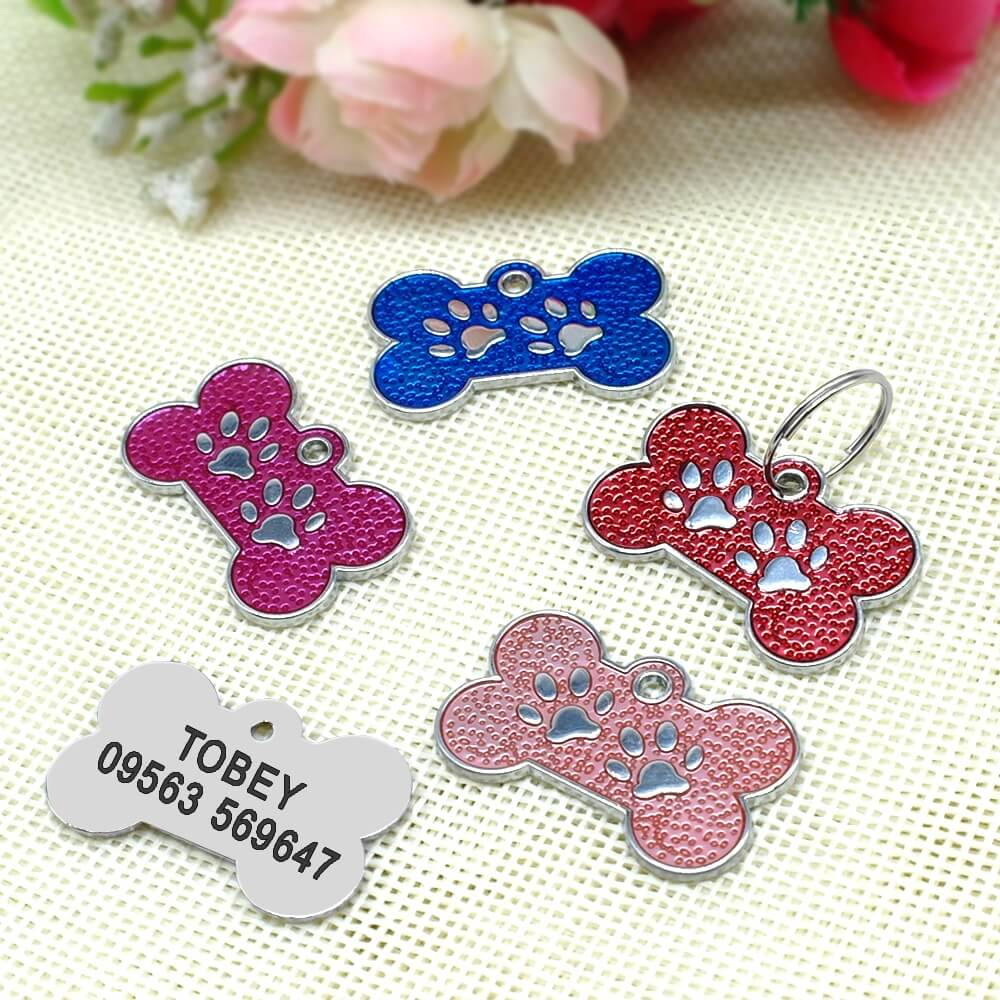 Buy Personalized red paw Engraved ID Collar Name Tag for pet cat dog in Kenya.jpg