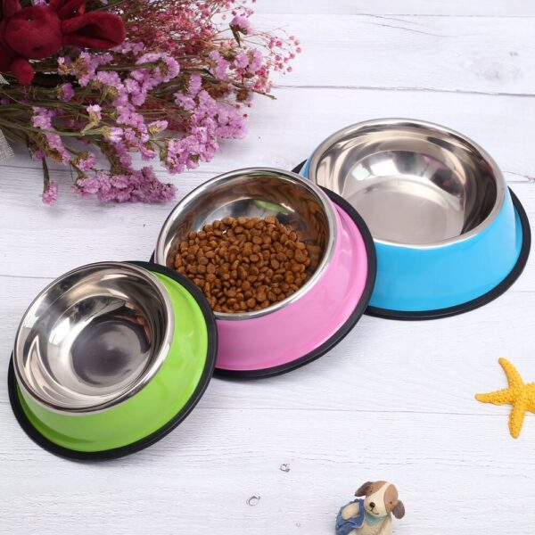 Buy-Pet-Dog-Cat-Bowl-Stainless-Steel-Pet-Food-Feeder-for-Small-Medium-Dogs-Cats-Dog-Drinking-Water-In-Kenya-On-Spawtive.co.ke