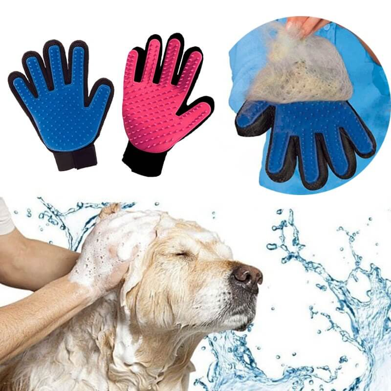 Pet Grooming Deshedding and Massage Glove for removing excess fur in cats and dogs buy online in Kenya 1
