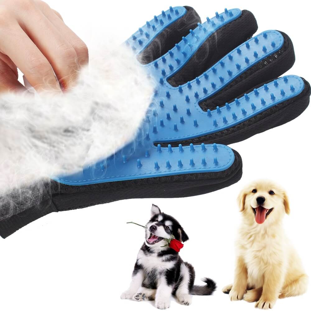 Pet Grooming Deshedding and Massage Glove for removing excess fur in cats and dogs buy online in Kenya 2