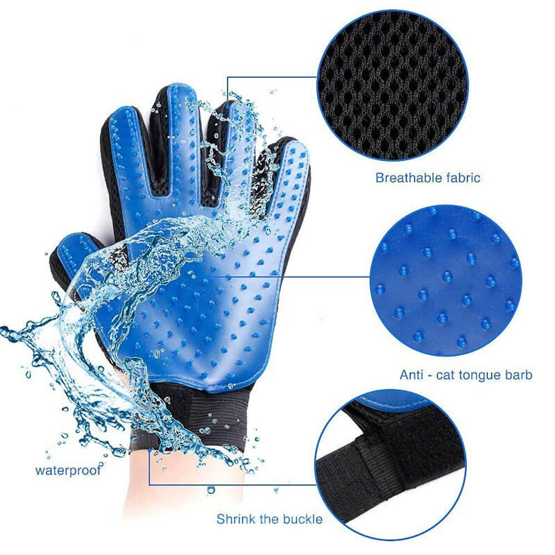 Pet Grooming Deshedding and Massage Glove for removing excess fur in cats and dogs buy online in Kenya 3