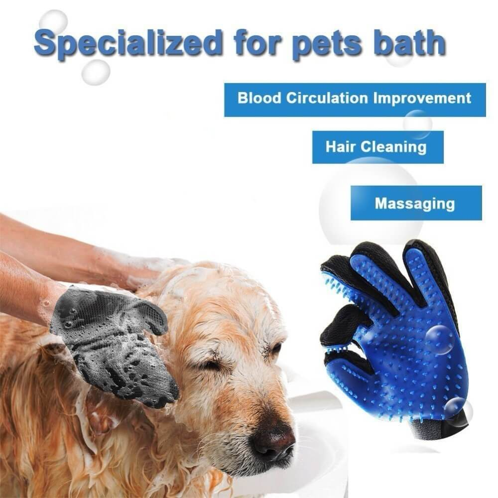 Pet Grooming Deshedding and Massage Glove for removing excess fur in cats and dogs buy online in Kenya 5