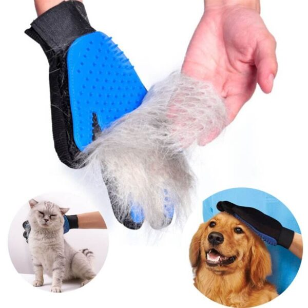 Pet Grooming Deshedding and Massage Glove for removing excess fur in cats and dogs buy online in Kenya