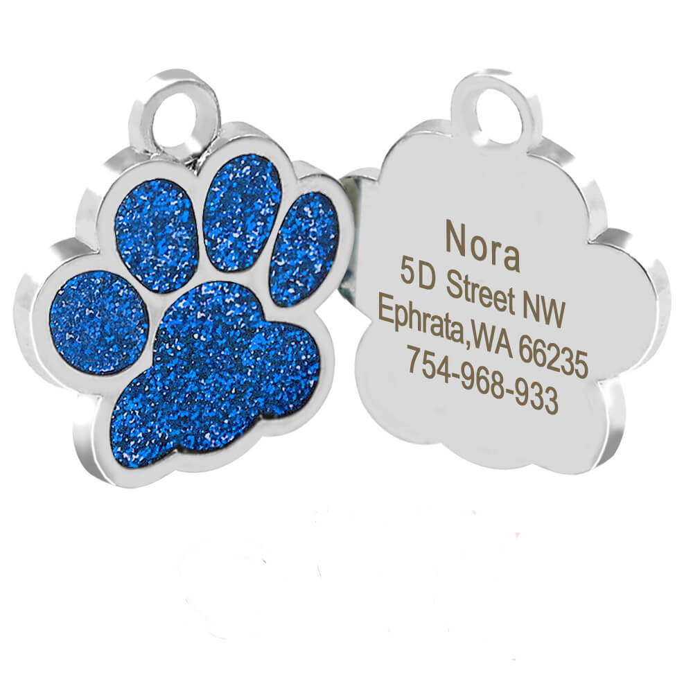 Spawtive Personalized blue paw Engraved ID Collar Name Tag for pet cat dog in Kenya.jpg