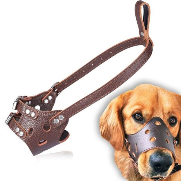 Buy Petsasa Adjustable Soft Leather Safety Dog Muzzle in Kenya