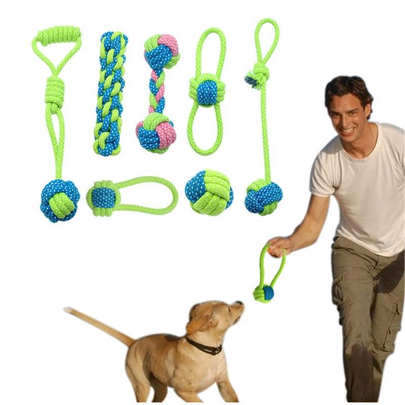 Dog-Rope-Toy-Knot-Puppy-Chew-Teething-Toys-Teeth-Cleaning-Pet-Palying-Ball-For-Dogs-In-Kenya-on-Spawtive.co.ke