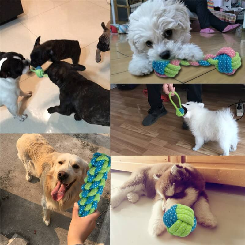 Dog-Rope-Toy-Knot-Puppy-Dog-Chew-Teething-Toys-Teeth-Cleaning-Pet-Palying-Ball-For-Dogs-In-Kenya-on-Spawtive.co.ke