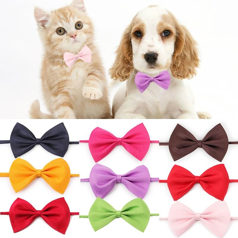 Pet-Cat-Dog-Collar-Bow-Tie-Adjustable-Neck-Strap-Cat-Dog-Grooming-Nairobi-Spawtive-Kenya