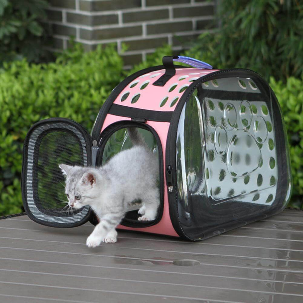 Transparent-Cat-Carrier-Fashion-Breathable-Mesh-Small-Animals-Shoulder-Bag-Outdoor-Slings-for-cats-puppies-in-kenya-sapwtive