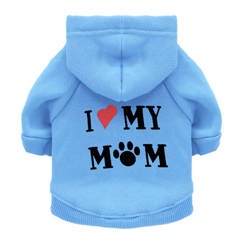 Blue I Love My Mum Autumn Pet Hoodie for Cats and Dog in Kenya