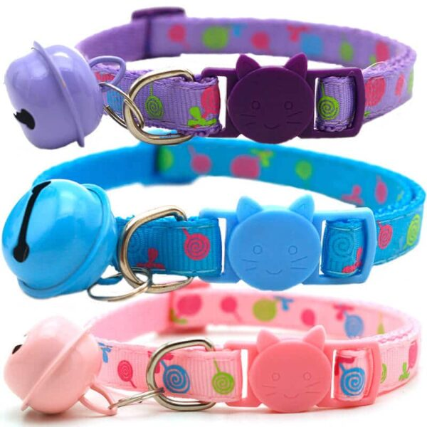 Buy-Adjustable-Breakaway-Cat-Collar-With-Bell-Rainbow-Cat-Collar-Dog-Lollipop-Cats-Collars-in-kenya