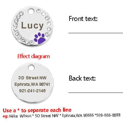 Customised Personalised Crystal Pet collar Name Name Tag for Cat Dog in kenya