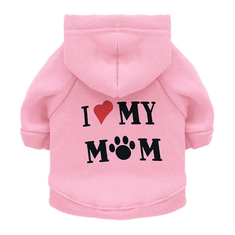 PInk I Love My Mum Autumn Pet Hoodie for Cats and Dog in kenya