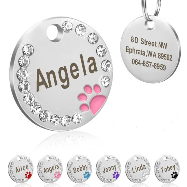 Personalised Crystal Pet collar Name Name Tag for Cat Dog in kenya