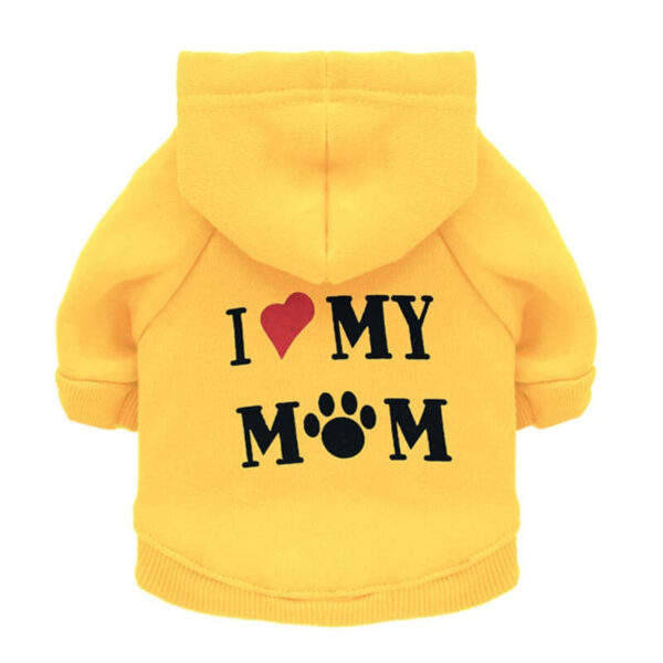 Yellow I Love My Mum Autumn Pet Hoodie for Cats and Dog in kenya