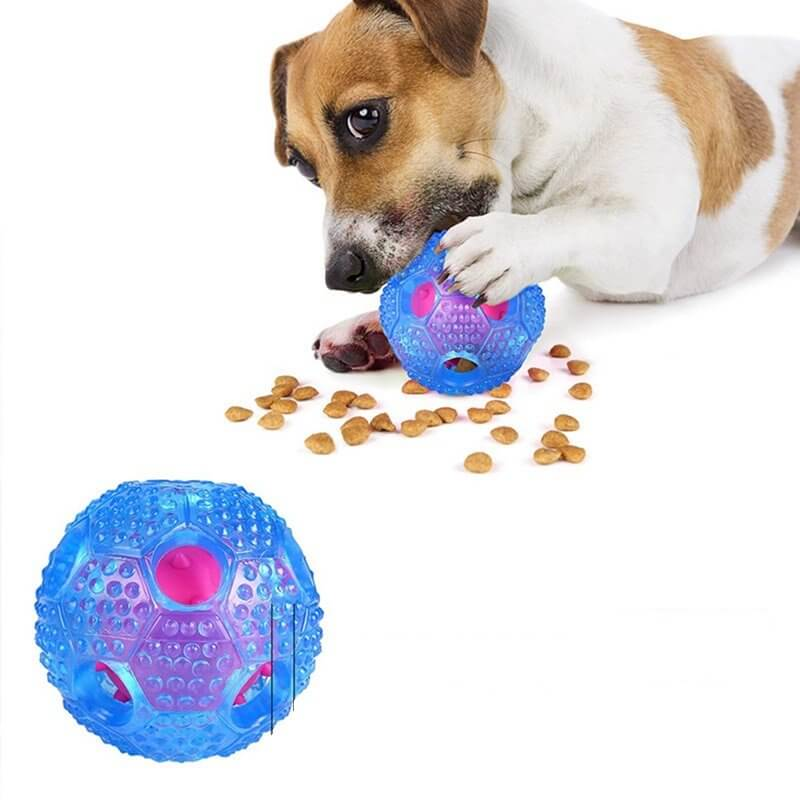 Interactive Slow Food and Teeth Cleaning Throw Ball Toy for Dog Pet in Kenya
