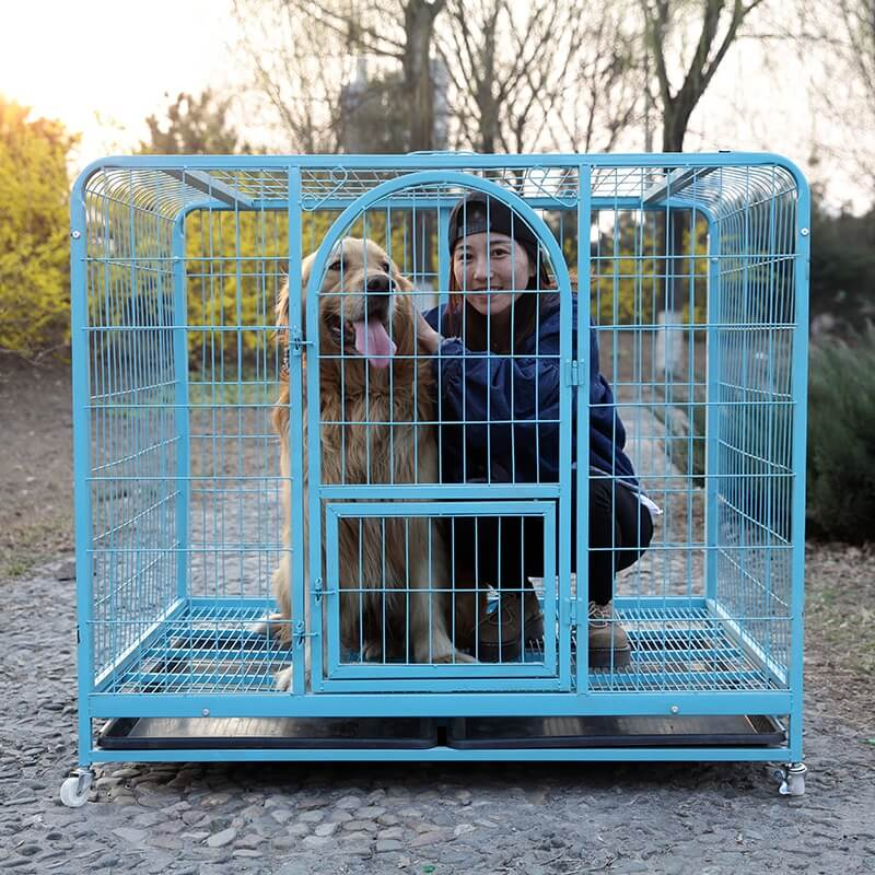 Buy Petsasa Strong Dog Crate Kennel for Indoor House Dog with Wheels & Toilet Tray in Kenya