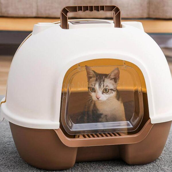 Petsasa-Petstore-Kenya-Igloo-Fully-Enclosed-Cat-Litter-Basin-Cat-Toilet-Deodorization-Extra-Large-Anti-splash