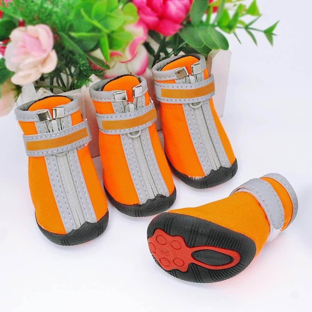 Best Waterproof Anti-slip Reflective Pet Rain Boots Dog Shoes on PetSasa