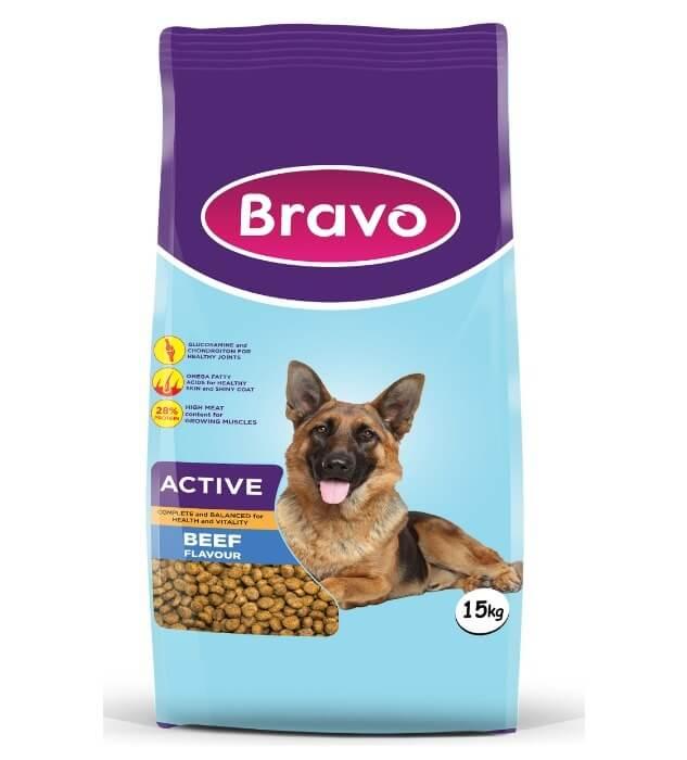 Bravo Active Dry Dog Food Beef Flavour
