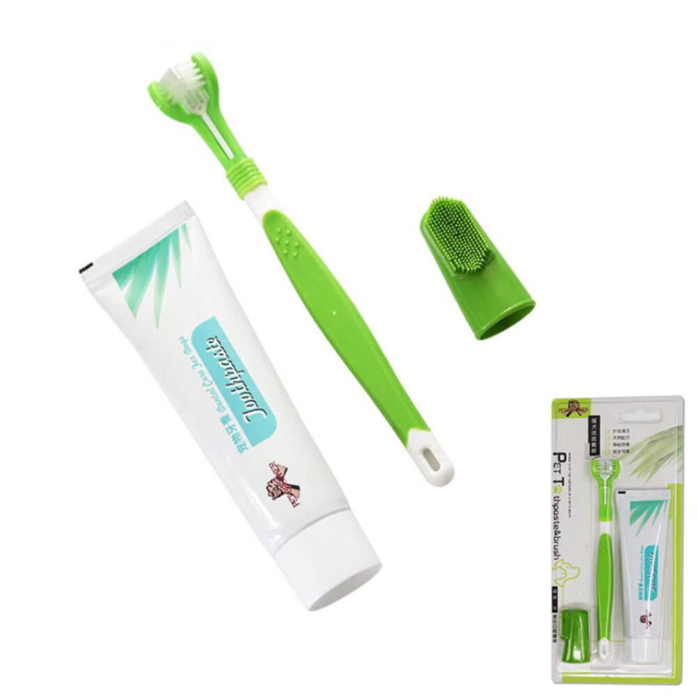 Pet Cat Dog Edible Toothpaste and Toothbrush Triple Set PetSasa Kenya