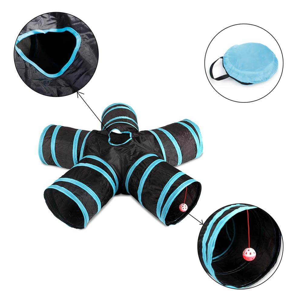 Foldable 5-Way Tunnel Play Cat Toy