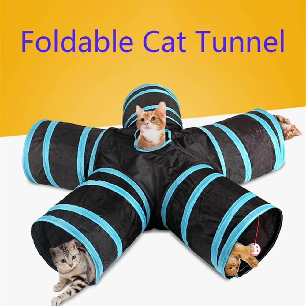PetSasa Collapsible 5-Way Tunnel Play Pet Cat Indoor outdoor Toy in kenya