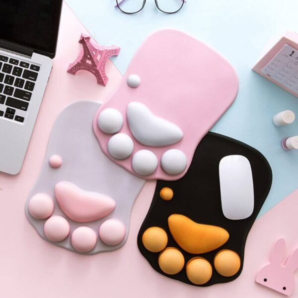 PetSasa-Cute-Cat-Paw-Mouse-Pad-Nonslip-Silicone-Mice-Mat-PC-Computer-Wrist-Rest-Support