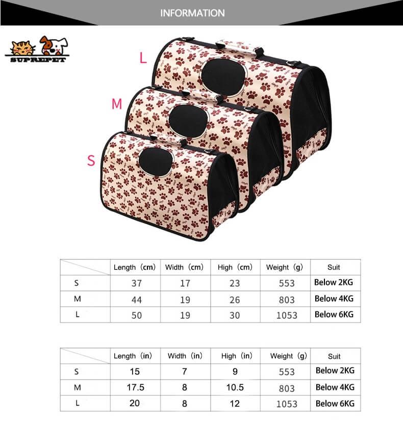 Best Cute Polka Cat Rabbit Dog Breathable Pet Carrier Bag for Travel in Kenya