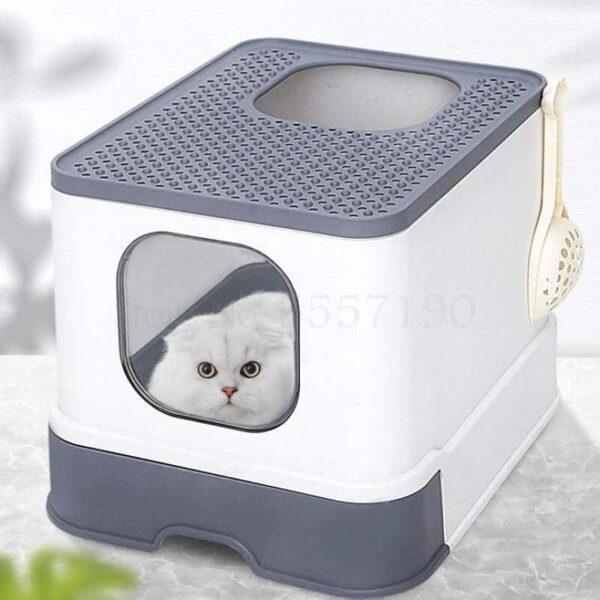 Best Super Deluxe Enclosed Cat Toilet Litter Box in Kenya