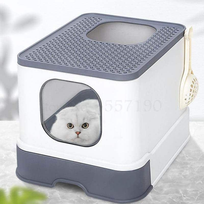 Best Super Deluxe Enclosed Cat Toilet Litter Box in Kenya