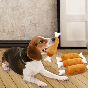 Buy Petsasa Fabric Chicken Leg Squeaky Chew Dog Toy in Nairobi Kenya