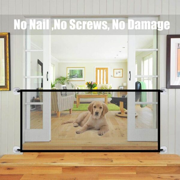 Pet-Barrier-Fences-Portable-Folding-Breathable-Mesh-Dog-Gate-Pet-Separation-Guard-Isolated-Fence-Dogs-On-Petsasa-Petstore-Kenya