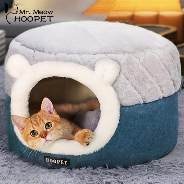 Petsasa Plush Sleeping Cat Bed House dog basket on pet store kenya for royal pets