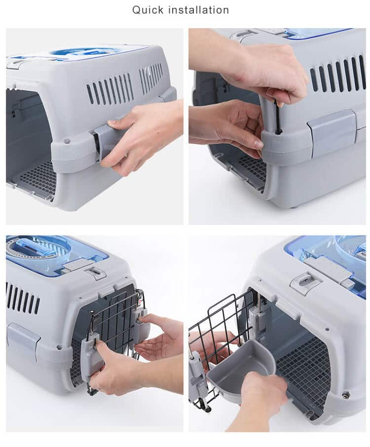 Instructions for Petsasa IATA Approved pet dog cat carrier kennel