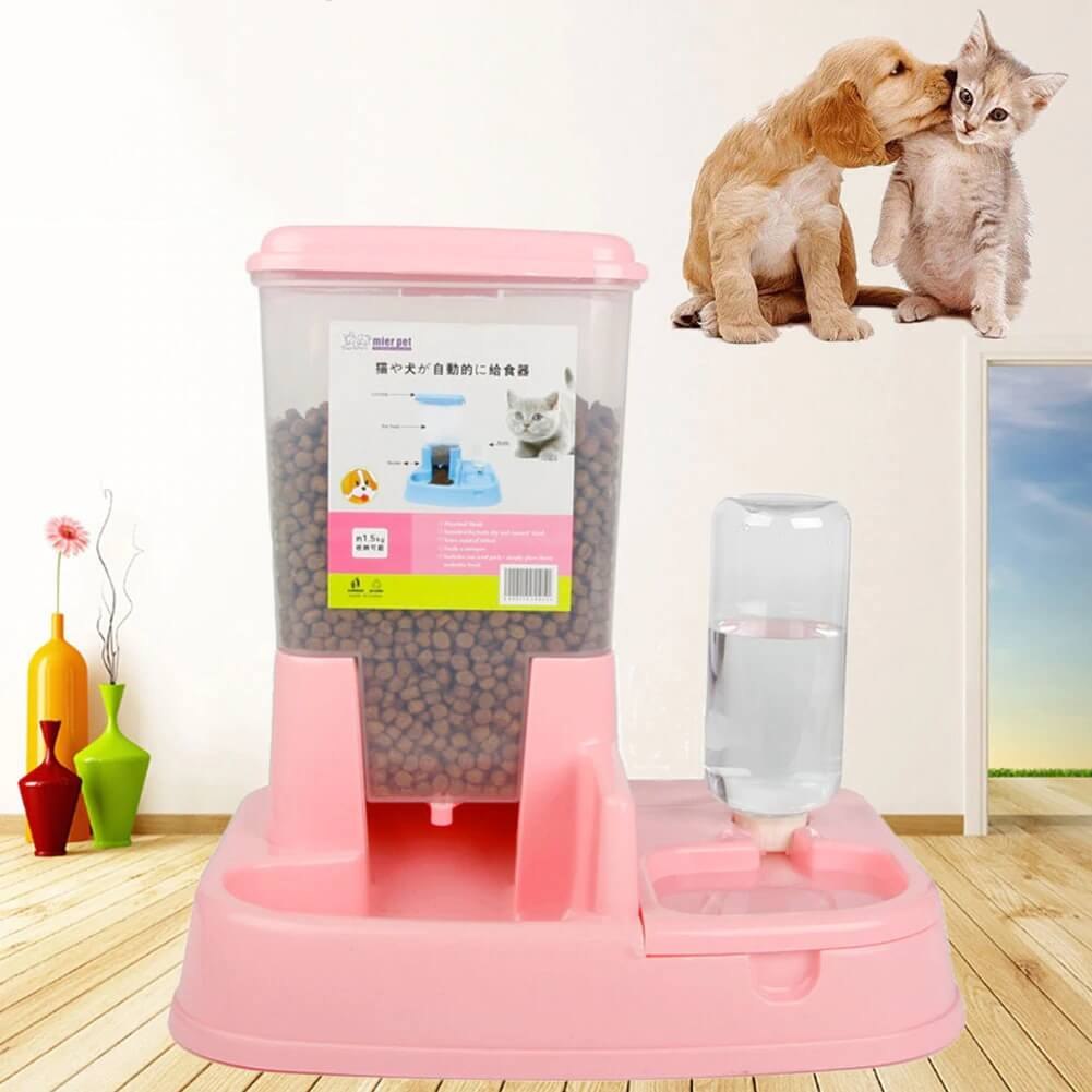 Buy Automatic Gravity Feeder Water Dispenser for Cats & Dogs in Nairobi Kenya Pink