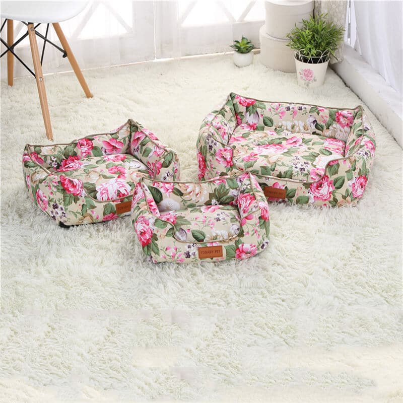 Best Beautiful Pet Bed in Kenya Wild Rose Warm Cat & Dog Bed with Removable Cushion