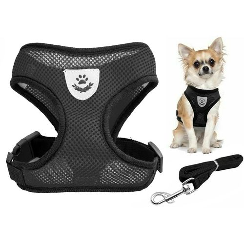 Buy Breathable Black Dog Harness and Leash in Kenya