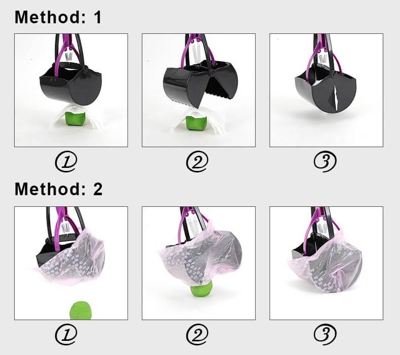 Steps of Using Dog Waste Poop Scooper Shovel in Kenya