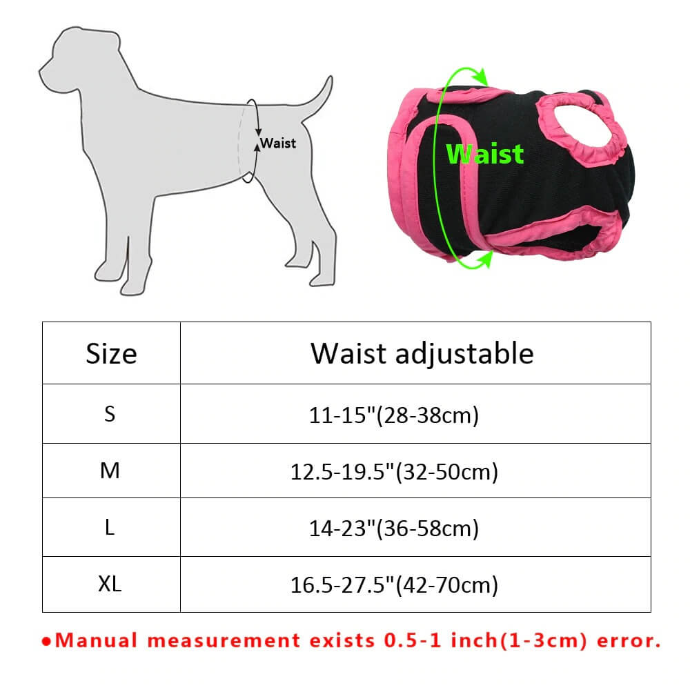 Choose Size for Washable Female Dog Diapers for Puppy, Small , Medium and Large Dogs in Kenya