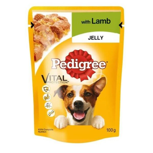 Buy Pedigree Pouch Lamb in Jelly Wet Dog Food 100g grams on Petsasa pet shop near me in Nairobi Kenya