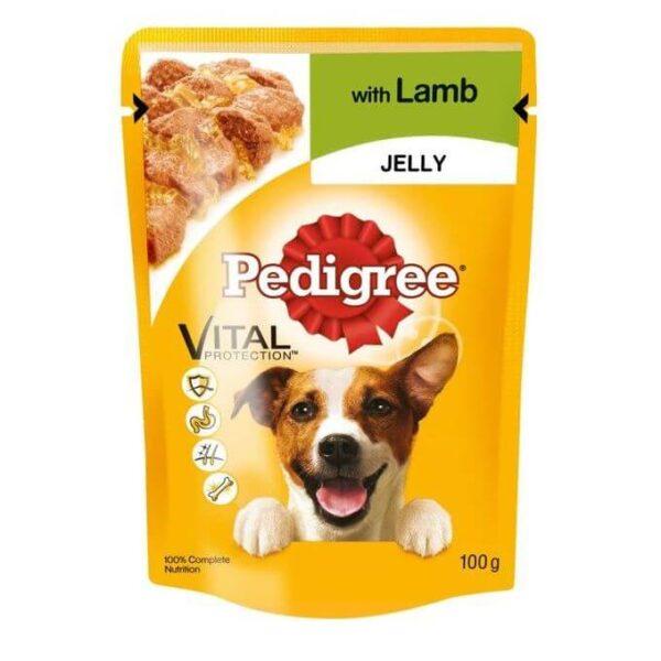 Buy Pedigree Pouch Lamb in Jelly Wet Dog Food 100g grams on Petsasa pet shop near me in Nairobi Kenya