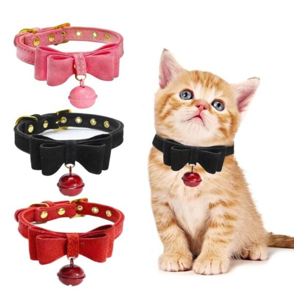 Buy Bowknot PU Leather Cat & Puppy Collar in Kenya on Petsasa