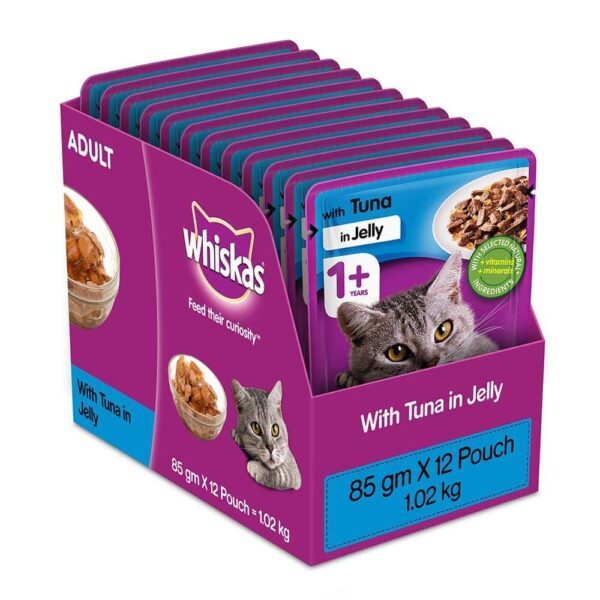 Buy Whiskas Adult (+1 Year) Wet Cat Food, Tuna in Jelly in Kenya