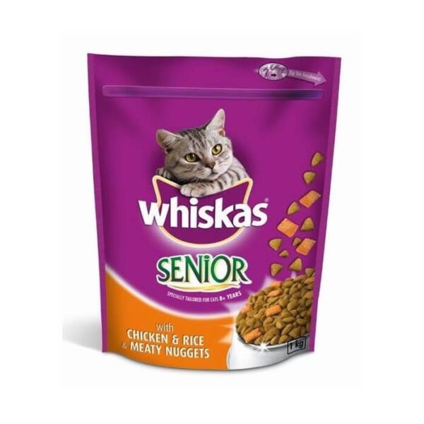 Buy Whiskas Senior Chicken & Rice Meaty Nuggets Dry Cat Food in Kenya