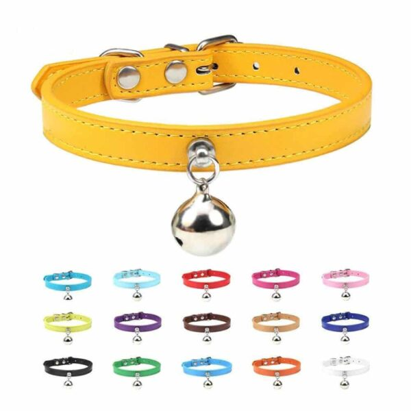 Buy Petstar PU Leather Cat Collar with Bell