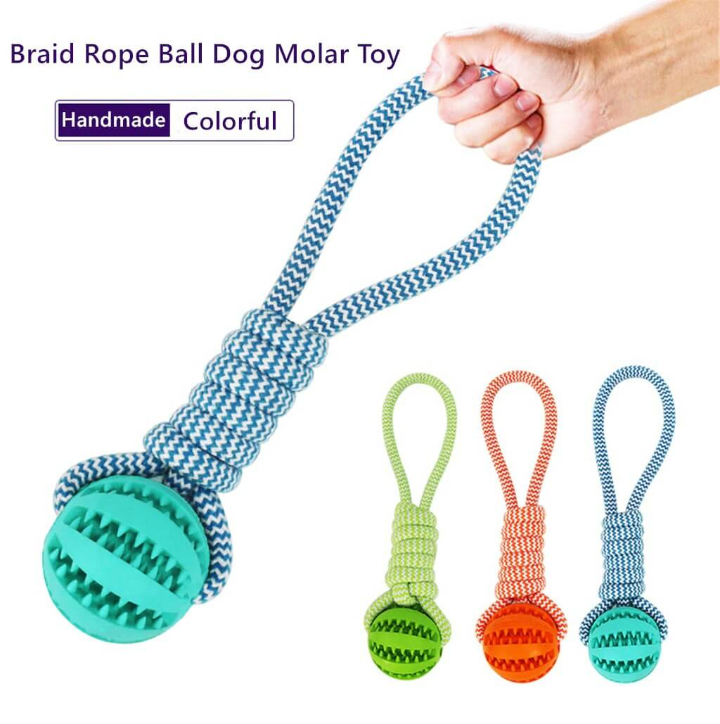 Buy best Braid Rope Dog Toy with Treat Ball in Kenya