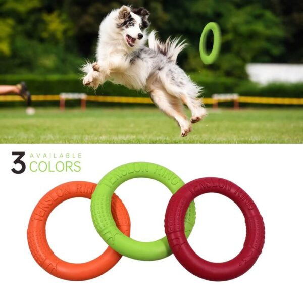 Tension Ring Frisbee Fetch Dog Toy Pet Flying Discs Dog Training Ring Puller Resistant Bite Floating Toy Puppy Outdoor Interactive Game Playing Petsasa Pet House Kenya for The Royal Pets