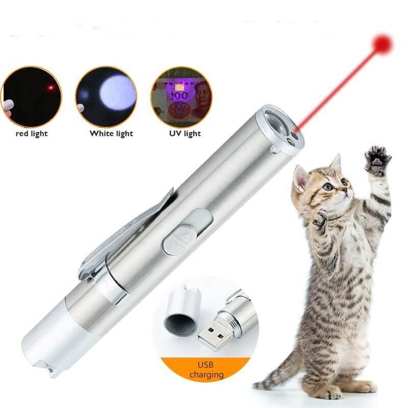 Buy 3-in-1 Rechargeable Cat Laser Toy Red Dot Torch, Flashlight, UV in Kenya